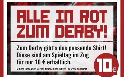 Alle in Rot zum Derby!