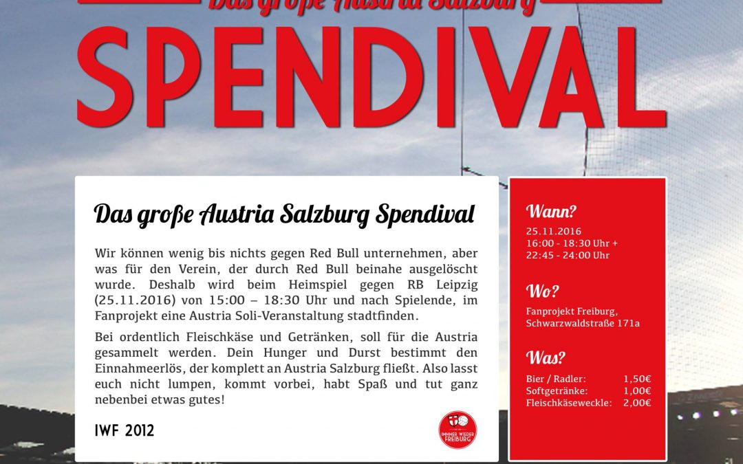 Das große Austria Salzburg Spendival!