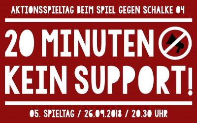 20 Minuten Protest beim Spiel gegen Schalke