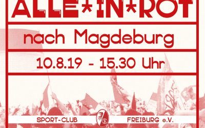 Alle in rot nach Magdeburg!